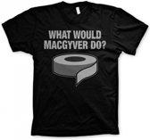 MacGyver zwart t-shirt heren Xl