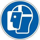 Gebodssticker  'Gezichtsbescherming verplicht', ISO 7010