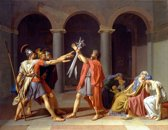 Jacques-Louis David : Oath of the Horatii (1784) Canvas Print