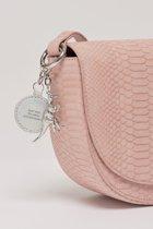 Estella Bartlett The Loman Saddle Bag Pink Snake