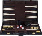 Backgammon ingelegd 46 x 30 cm zwart