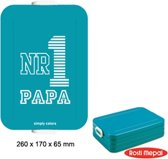 Mepal lunchbox TO GO illustration - Large - Blauw - NR 1 Papa