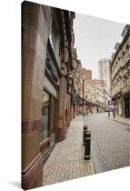 Engelse architectuur in de straten van Birmingham Canvas 90x140 cm - Foto print op Canvas schilderij (Wanddecoratie woonkamer / slaapkamer)
