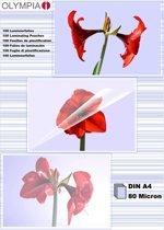 1x100 Olympia lamineerfolie DIN A4 80 micron 9166