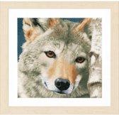 borduurpakket PN0166758 wolf close-up