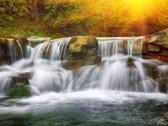 Papermoon Mountain Waterfall Vlies Fotobehang 250x186cm 5-Banen