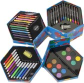 Kleurbox Tekendoos Balloon - Grote Tekenbox / Tekenset Met Inhoud Potloden, Verf