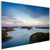 Noordzee zonsondergang Glas 120x80 cm - Foto print op Glas (Plexiglas wanddecoratie)