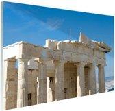 Akropolis Athene Glas 90x60 cm - Foto print op Glas (Plexiglas wanddecoratie)