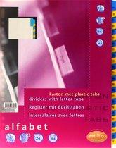 Tabbladen Multo 7310400 A4 23r Karton A-Z Chamois