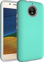 Let op type!! Voor Motorola Moto G5s antislip Armor Cover beschermhoes terug Shell(Green)