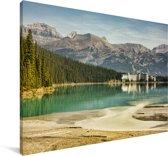 Omgeving in het Nationaal park Banff in Canada Canvas 60x40 cm - Foto print op Canvas schilderij (Wanddecoratie woonkamer / slaapkamer)