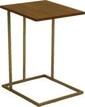 HH Furniture - Laptoptafel - Walnoot - RVS