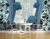 Fotobehang Bloemen | Blauw | 152,5x104cm