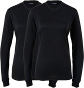 Campri Thermoshirt lange mouw (2-PACK) - Sportshirt - Dames - Maat S - Zwart