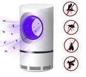 Muggenlamp voor binnen - Insectenlamp - Muggenlamp – Muggen killer – Muggenvanger - Muggenval - USB / UV - Wit