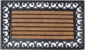 Rubberen deurmat met kokos 75 x 45 cm