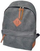 Active Sport rugzak - Schooltas Backpack - Stevig canvas | Grijs