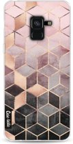 Casetastic Softcover Samsung Galaxy A8 (2018) - Soft Pink Gradient Cubes