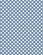 Polka Dots - Blue-Gray 101 - Lined Notebook with Margins 8.5x11