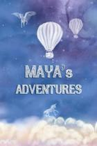 Maya's Adventures: Softcover Personalized Keepsake Journal, Custom Diary, Writing Notebook with Lined Pages