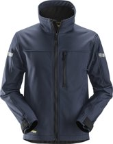 Snickers Softshell Jack - AllroundWork 1200 - Donkerblauw - Maat L