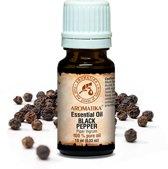 Zwarte peper - etherische olie 10ml, 100% zuiver en natuurlijk, voor massage / spa / wellness / parfum / ontspanning / aromatherapie / schoonheid / essentiele olie / geurolie / geurverspreider / cosmetica / huidverzorging / cadeau van Aromatika