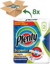 Plenty Superior keukenpapier - 8 x 2 rollen - kwartaal voorraad