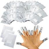 Hiden   Gellak Remover – Gel nagellak verwijderaar – Aluminiumfolie   100 stuks