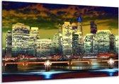 Canvas schilderij Steden | Geel, Blauw, Groen | 120x70cm 1Luik