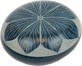 Gelukssteen van Zeepsteen Turquoise Bloem