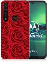 Motorola Moto G8 Plus TPU Case Rood Rose