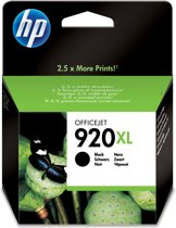HP 920XL - Inktcartridge / Zwart  (CD975AE)