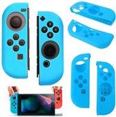 Silicone Anti Slip cover voor Nintendo Switch Controller Blauw