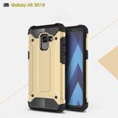 Samsung Galaxy A8 (2018) Armor Hybrid Case - Goud