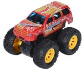 Free And Easy Speelgoedauto Monstertruck Frictie 9 Cm Rood