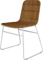 Eetkamer stoel - Straight model - Industrial - 56x58x87 - Wit - Koboo