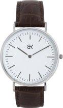 BK AMSTERDAM - Classic White Van Wou Horloge