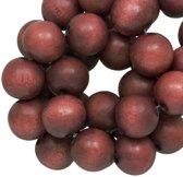 Houten Kralen Vintage Look (10 mm) Red Brown (86 stuks)