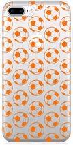 iPhone 7 Plus Hoesje Orange Soccer Balls