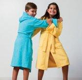 Kinderbadjas met Capuchon Uni Pure 4 Jaar Geel col 1118