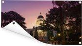 Capitool van Californië met een kleurrijke hemel in de Verenigde Staten Tuinposter 80x40 cm - klein - Tuindoek / Buitencanvas / Schilderijen voor buiten (tuin decoratie)
