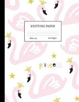 Knitting Paper: Graph Notebook and Journal for Patterns - 4:5 Ratio - 100 pages - Letter Format 8.5''x11'' - Cover Design Code 00042
