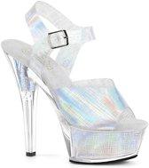 KISS-208N-CRHM (EU 40 = US 10) 6 Heel, 1 3/4 PF Crosshatch Ankle Strap Sandal