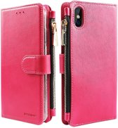 Xssive Wallet Book Case met Ritsvak voor Apple iPhone XS Max - Pink