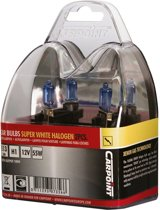 Carpoint Halogeen lampen - Autolampen H1 - Superwhite - 12V - 2 Stuks