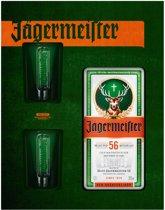 Jägermeister Cadeauverpakking - 1x 70 cl + 2 Shotglazen