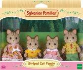 Sylvanian Families 5180 Familie Gestreepte Kat - Speelfigurenset