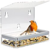 Nature Windows Bird Feeder - Vogelvoederhuisje - Transparant - 20 cm x 18 cm x 9.7 cm
