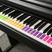 Piano stickers – Keyboard sticker – 4 stuks – 88 toetsen - gekleurde piano stickers